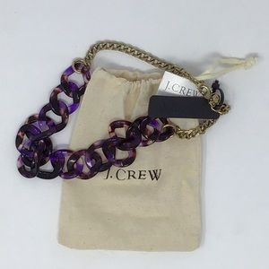 NWT J.Crew | Lucite Purple Tortoise Shell Necklace